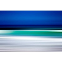 The Picturalist Framed Print on Rag Paper: Turquoise Blur