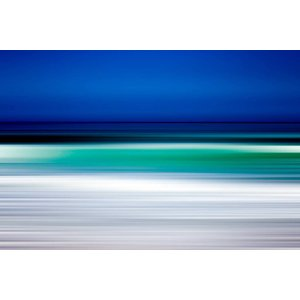 Framed Print on Rag Paper Turquoise Blur