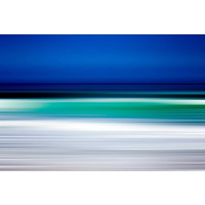 The Picturalist Framed Print on Rag Paper: Turquoise Blur Print on Paper