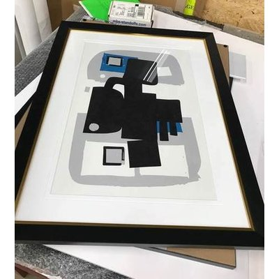 The Picturalist Framed Print on Rag Paper: Modernist Blue Series #4