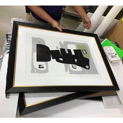 Framed Print on Rag Paper: Modernist Green Series #3