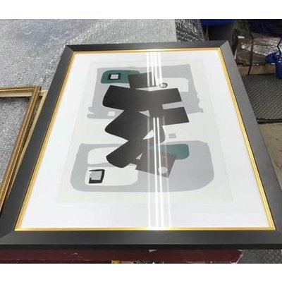 Framed Print on Rag Paper: Modernist Emerald Series #1