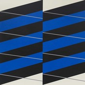 The Picturalist Framed Print on Canvas: Stripes #04 by Rodrigo Martin