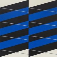 Framed Print on Canvas: Stripes #04 on Canvas