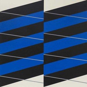Framed Print on Canvas Stripes #04