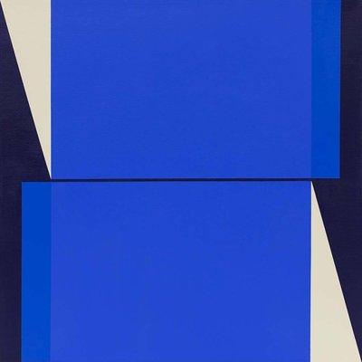 Framed Print on Canvas: Cuadratura #01 by Rodrigo Martin