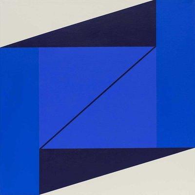 Framed Print on Canvas: Cuadratura #02 by Rodrigo Martin