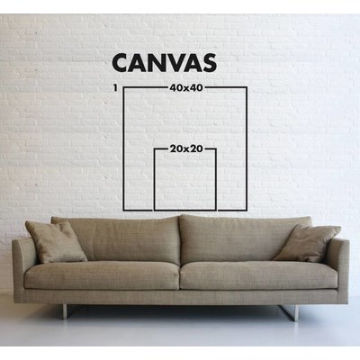 Stretched Canvas 1.5 - Positive and Negative by Rodrigo Martin