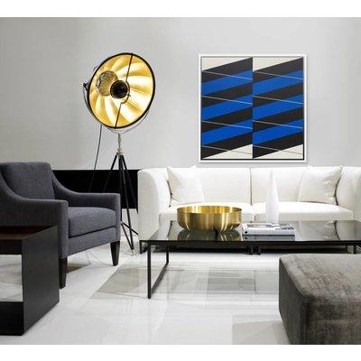 Framed Print on Canvas: Stripes #04 by Rodrigo Martin