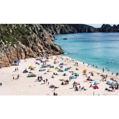 Facemount Acrylic: Greek Island Beach by Annie Koukos