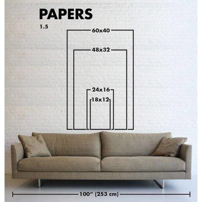 Framed Print on Rag Paper: Jaune by M. Eendra