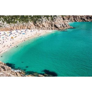 Print on Paper US250 - Greek Island Beach by Ch. Kenion