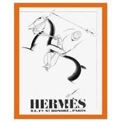 The Picturalist Framed Print on Rag Paper: Print of Vintage Hermes Poster 1932 Leather Brand