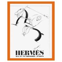 Framed Print on Rag Paper: 1932 Hermes Leather Brand