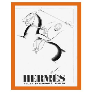 Framed Print on Rag Paper: 1932 Hermes Leather Brand