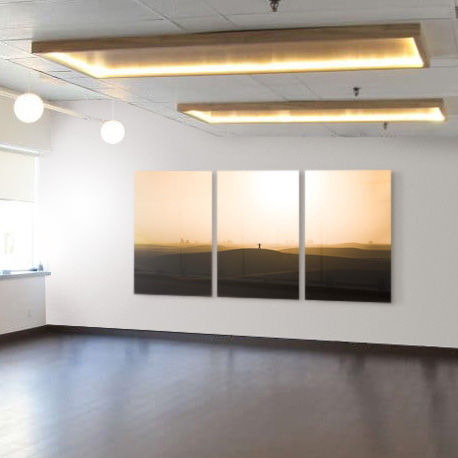 Yoga Room Triptych The Picturalist