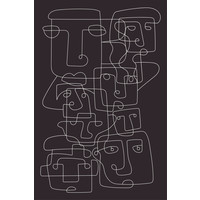 Framed Print on Rag Paper Faces