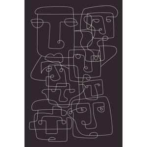 Framed Print on Rag Paper: Faces