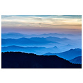 The Picturalist LED Backlit Fabric Print Metal Box: The Blue Mountains