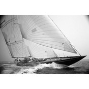 Framed Print on Rag Paper: Shamrock J Class by Kevin Dailey