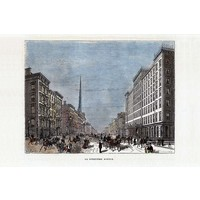 The Picturalist Framed Print on Rag Paper: Fifth Avenue 1912
