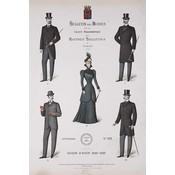 The Picturalist Framed Print on Rag Paper: Bulletin Des Modes Paris Winter 1898-1899