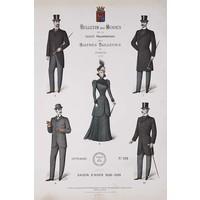 Framed Print on Rag Paper: Bulletin Des Modes Paris Winter