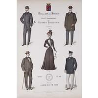 Framed Print on Rag Paper: Bulletin des Modes Paris Summer
