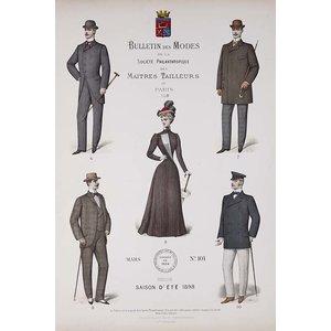 Framed Print on Rag Paper Bulletin des Modes Paris Summer