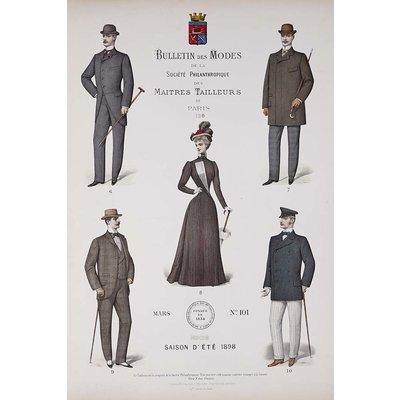 Framed Print on Rag Paper: Bulletin des Modes Paris Summer 1898