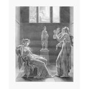 Framed Print on Rag Paper: Phedra Vintage Print