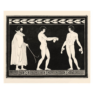 The Picturalist Framed Print on Rag Paper: Trainer with two Athletes