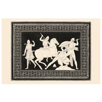 The Picturalist Framed Print on Rag Paper: Amazonomachy Monochrome