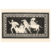 The Picturalist Framed Print on Rag Paper: Hercules fighting Centaurs Monochrome