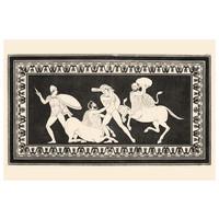 Framed Print on Rag Paper: Hercules fighting Centaurs