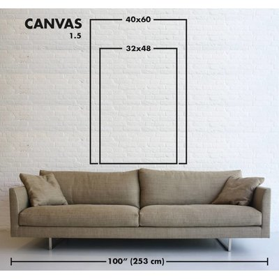 The Picturalist Framed Print on Canvas: A Crack in Everything by Alejandro Franseschini