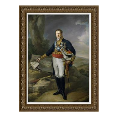 Stretched Canvas 1.5 - Portrait of Spanish Military Marshall