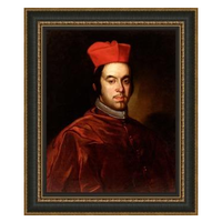 Stretched Canvas 1.5 - Portrait of the Portocarrero Cardinal 1670