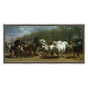 Stretched Canvas 1.5 - The Horse Fair by Rosa Bonheur 1852