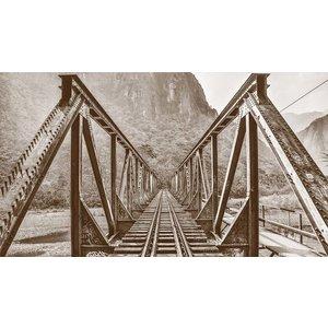 Framed Print on Canvas Railroad Bridge