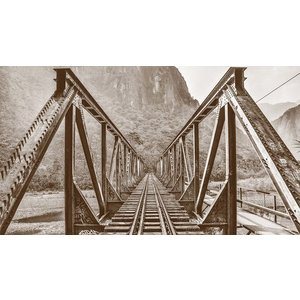 The Picturalist Framed Print on Canvas: Railroad Bridge