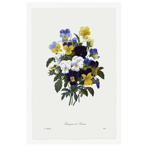 Print on Paper US250 - Bouquet of Pansies