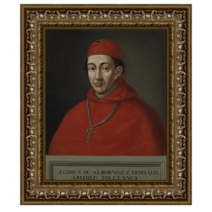 Stretched Canvas 1.5 - Portrait of Cardinal Albornoz from Toledo by Matias Moreno