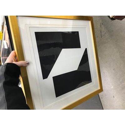 Framed Print on Rag Paper: Moderna 4 by Alejandro FranseschiniModerna 4
