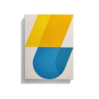 Framed Print on Canvas: Broken Curve by Rodrigo Martin