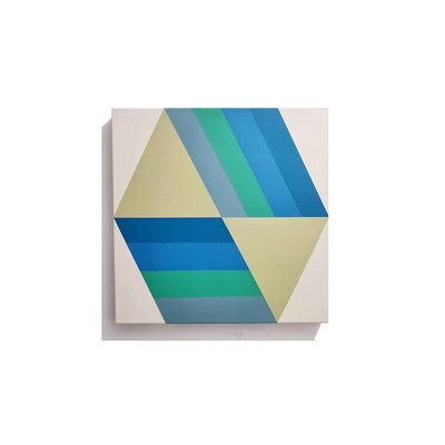Framed Print on Canvas: Broken Square 04 by Rodrigo Martin