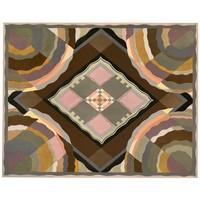 Framed Print on Rag Paper: Art Deco Pattern