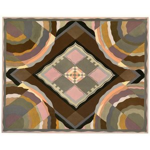 Framed Print on Rag Paper: Art Deco Pattern