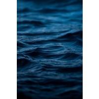 Framed Print on Rag Paper Mykonos Blue