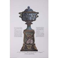 Framed Print on Rag Paper: Piranesi Urn for Cavalier Pougens